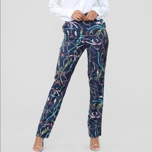 Lasso/Ribbon Printed Pants